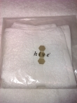 Hive Face Towel ( white )