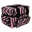 The Edge Roo Beauty Bag Pink Zebra with Pink Inside