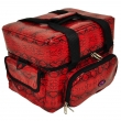 The Edge Roo Beauty Bag Red Snake with Black Inside