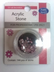 Pure Nails Acrylic Stone ( Pink ) Pk 144