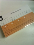 Spray Tan Consultation Record Cards