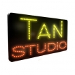 LED Tan Studio Static or Flashing Sign. Sizes: 300 x 580 x 17mm