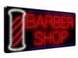LED Barbers Shop with pole, static or flashing sign. Sizes 350 x 700 x 17mm.