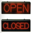 Static Open/Closed Red LED Sign