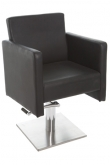 Space Rubick Hydraulic lift styling chair with foot rest ( Black )