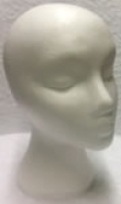 Poly Head for wig display